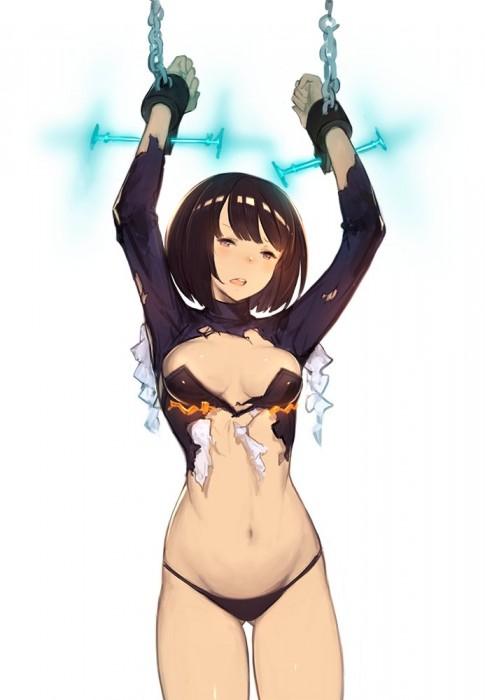 二次 エロ 萌え フェチ エロハプニング 服が破けてる ビリビリ ラッキースケベ 半裸 中破 大破 レイプ 強姦 着衣SEX 二次エロ画像 hukubiri2016110718