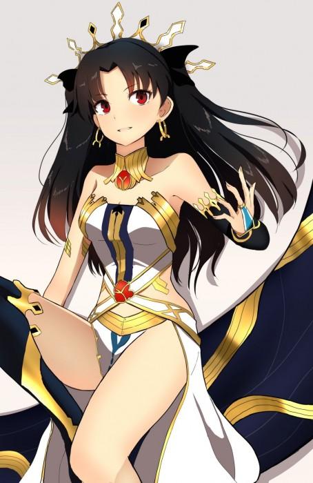 二次 萌え 非エロ アニメ ゲーム ビジュアルノベル Fate Grand Order イシュタル 金星の女神 ツーサイドアップ 黒髪 あかいあくま 二次微エロ画像 ishtarfatego2016122213