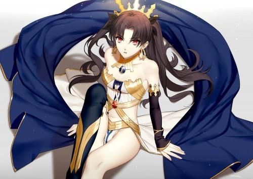二次 萌え 非エロ アニメ ゲーム ビジュアルノベル Fate Grand Order イシュタル 金星の女神 ツーサイドアップ 黒髪 あかいあくま 二次微エロ画像 ishtarfatego2016122220