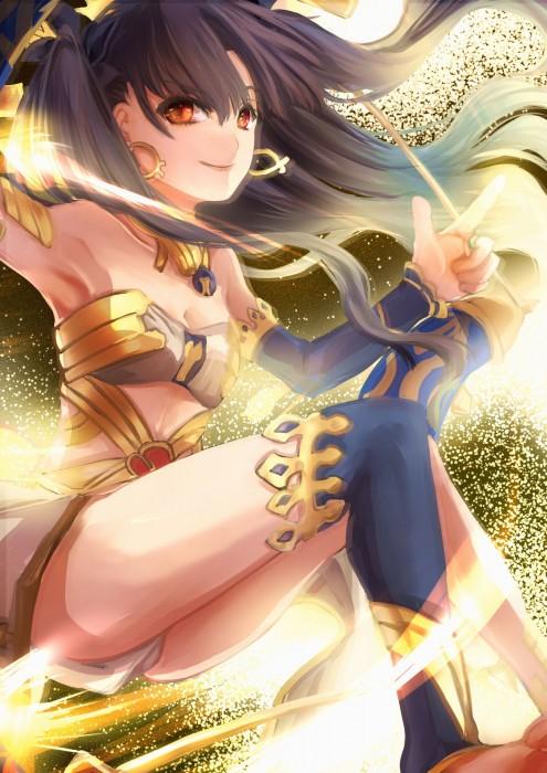 二次 萌え 非エロ アニメ ゲーム ビジュアルノベル Fate Grand Order イシュタル 金星の女神 ツーサイドアップ 黒髪 あかいあくま 二次微エロ画像 ishtarfatego2016122232