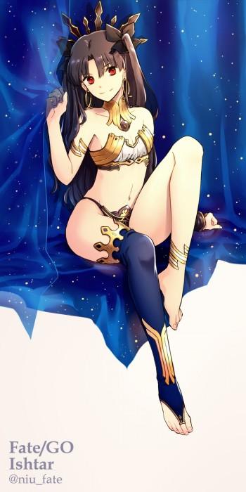 二次 萌え 非エロ アニメ ゲーム ビジュアルノベル Fate Grand Order イシュタル 金星の女神 ツーサイドアップ 黒髪 あかいあくま 二次微エロ画像 ishtarfatego2016122242