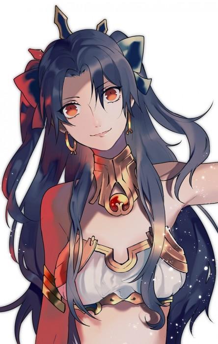 二次 萌え 非エロ アニメ ゲーム ビジュアルノベル Fate Grand Order イシュタル 金星の女神 ツーサイドアップ 黒髪 あかいあくま 二次微エロ画像 ishtarfatego2016122244
