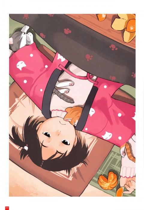 二次 萌え フェチ エロ 冬 コタツ みかん 寝ている 寝顔 和室 食事風景 SDキャラ チビキャラ 正月 炬燵 二次エロ画像 kotatsu2017010938