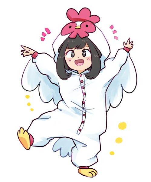 二次 非エロ 萌え フェチ お正月 酉年 鶏 ヒヨコ 振袖 着物 和服 二次非エロ画像 niwatori10020170105038