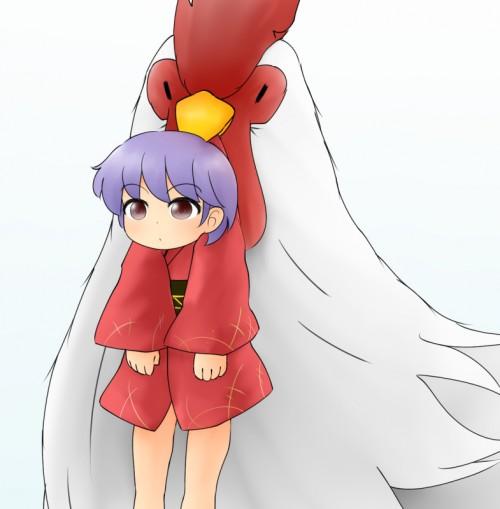 二次 非エロ 萌え フェチ お正月 酉年 鶏 ヒヨコ 振袖 着物 和服 二次非エロ画像 niwatori10020170105045