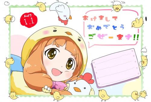 二次 非エロ 萌え フェチ お正月 酉年 鶏 ヒヨコ 振袖 着物 和服 二次非エロ画像 niwatori10020170105062