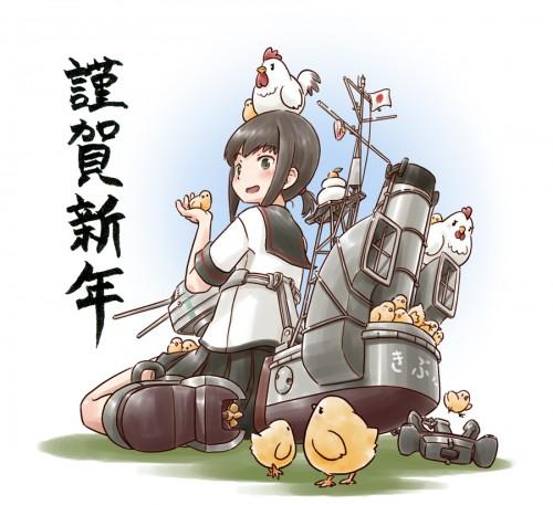 二次 非エロ 萌え フェチ お正月 酉年 鶏 ヒヨコ 振袖 着物 和服 二次非エロ画像 niwatori10020170105076