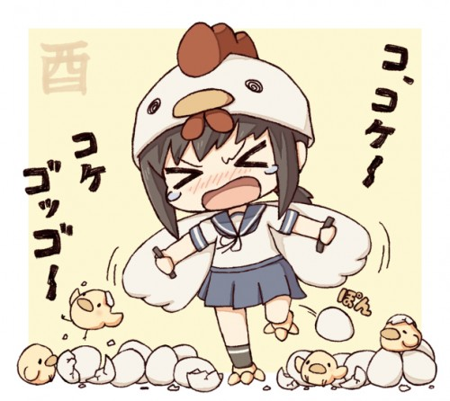 二次 非エロ 萌え フェチ お正月 酉年 鶏 ヒヨコ 振袖 着物 和服 二次非エロ画像 niwatori10020170105079