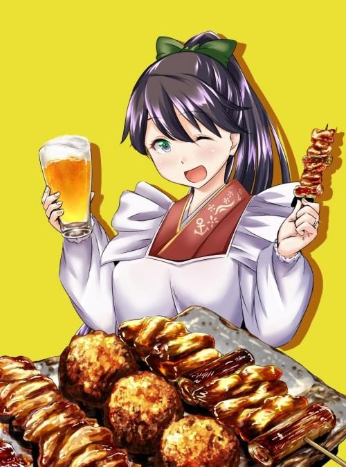 二次 萌え フェチ 食べ物 非エロ 肉 焼肉 焼き鳥 ハンバーグ ハンバーガー すき焼き 食べてる 食事風景 飯テロ トンカツ ソーセージ しゃぶしゃぶ 二次非エロ画像 niku10020170209010
