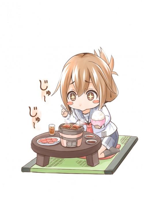 二次 萌え フェチ 食べ物 非エロ 肉 焼肉 焼き鳥 ハンバーグ ハンバーガー すき焼き 食べてる 食事風景 飯テロ トンカツ ソーセージ しゃぶしゃぶ 二次非エロ画像 niku10020170209054