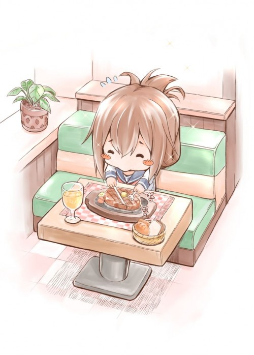 二次 萌え フェチ 食べ物 非エロ 肉 焼肉 焼き鳥 ハンバーグ ハンバーガー すき焼き 食べてる 食事風景 飯テロ トンカツ ソーセージ しゃぶしゃぶ 二次非エロ画像 niku10020170209055