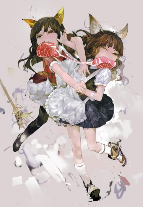 二次 萌え フェチ 食べ物 非エロ 肉 焼肉 焼き鳥 ハンバーグ ハンバーガー すき焼き 食べてる 食事風景 飯テロ トンカツ ソーセージ しゃぶしゃぶ 二次非エロ画像 niku10020170209076