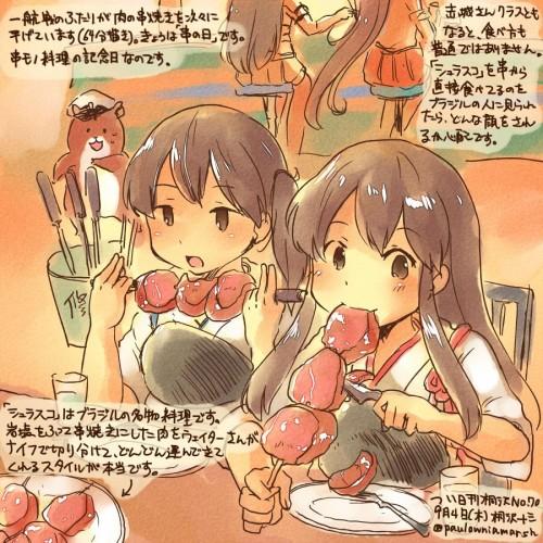 二次 萌え フェチ 食べ物 非エロ 肉 焼肉 焼き鳥 ハンバーグ ハンバーガー すき焼き 食べてる 食事風景 飯テロ トンカツ ソーセージ しゃぶしゃぶ 二次非エロ画像 niku10020170209082