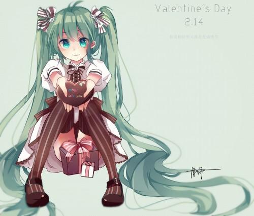 二次 非エロ 萌え フェチ バレンタイン チョコレート 裸リボン プレゼント 裸チョコ 赤面 照れてる 恥ずかしがってる 表情 二次微エロ画像 valentine10020170216015