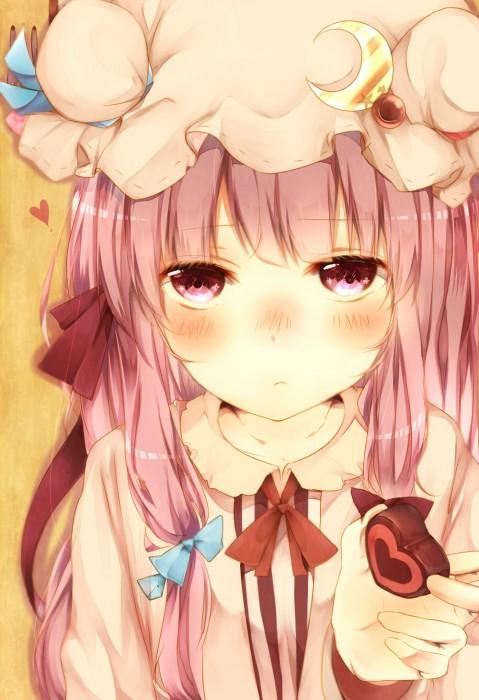 二次 非エロ 萌え フェチ バレンタイン チョコレート 裸リボン プレゼント 裸チョコ 赤面 照れてる 恥ずかしがってる 表情 二次微エロ画像 valentine10020170216019