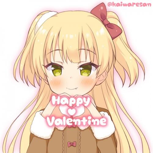 二次 非エロ 萌え フェチ バレンタイン チョコレート 裸リボン プレゼント 裸チョコ 赤面 照れてる 恥ずかしがってる 表情 二次微エロ画像 valentine10020170216055