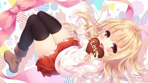 二次 非エロ 萌え フェチ バレンタイン チョコレート 裸リボン プレゼント 裸チョコ 赤面 照れてる 恥ずかしがってる 表情 二次微エロ画像 valentine10020170216060