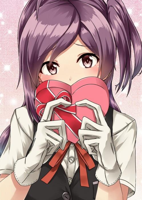 二次 非エロ 萌え フェチ バレンタイン チョコレート 裸リボン プレゼント 裸チョコ 赤面 照れてる 恥ずかしがってる 表情 二次微エロ画像 valentine10020170216069