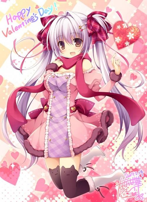 二次 非エロ 萌え フェチ バレンタイン チョコレート 裸リボン プレゼント 裸チョコ 赤面 照れてる 恥ずかしがってる 表情 二次微エロ画像 valentine10020170216083