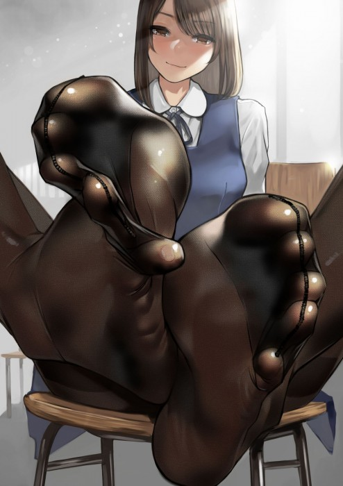 二次 エロ フェチ 萌え 足裏 生足 パンスト タイツ 靴下 ソックス 脚 爪先 つま先 二次エロ画像 ashiura2017032111