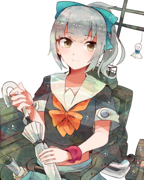 二次 エロ 萌え ゲーム 艦隊これくしょん 艦これ 擬人化 夕張 ポニーテール リボン 銀髪 緑髪 セーラー服 へそ ストッキング・タイツ パンスト メロンちゃん 二次エロ画像 yuubarikancolle10020170307006