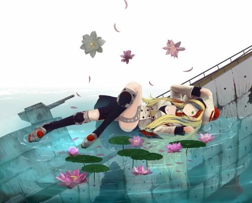 二次 非エロ 萌え ゲーム 艦隊これくしょん 艦これ 擬人化 コマンダン・テスト 金髪 巨乳 帽子 フランス 水上機母艦 青白赤のメッシュ コマちゃん コマさん 二次非エロ画像commandantteste2017041803