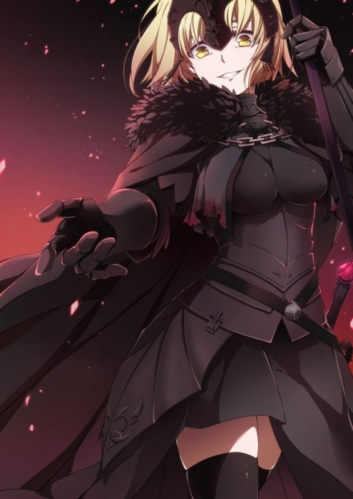 二次 萌え エロ アニメ ゲーム ビジュアルノベル セイバー サーヴァント Fate Fate/Apocrypha Grand Order ジャンヌ・オルタ 邪ンヌ 竜の魔女 反抗期の女子 邪悪JK アホ毛 金髪 プラチナブロンド 巨乳 二次エロ画像 jeannealterfate10020170501012