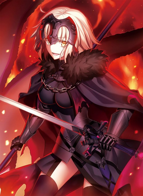 二次 萌え エロ アニメ ゲーム ビジュアルノベル セイバー サーヴァント Fate Fate/Apocrypha Grand Order ジャンヌ・オルタ 邪ンヌ 竜の魔女 反抗期の女子 邪悪JK アホ毛 金髪 プラチナブロンド 巨乳 二次エロ画像 jeannealterfate10020170501062