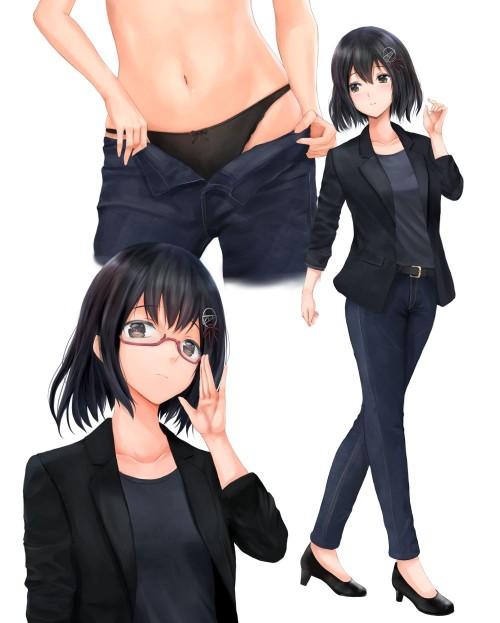 二次 エロ 萌え フェチ メガネ めがね 眼鏡 眼鏡っ娘 二次エロ画像 megane2017041828