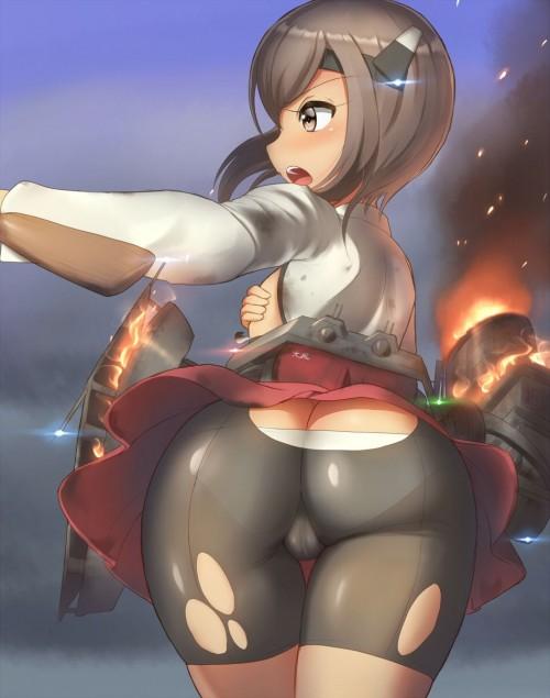 二次 エロ 萌え フェチ エロハプニング 服が破けてる ビリビリ ラッキースケベ 半裸 中破 大破 レイプ 強姦 着衣SEX 二次エロ画像 hukubiri2017060122