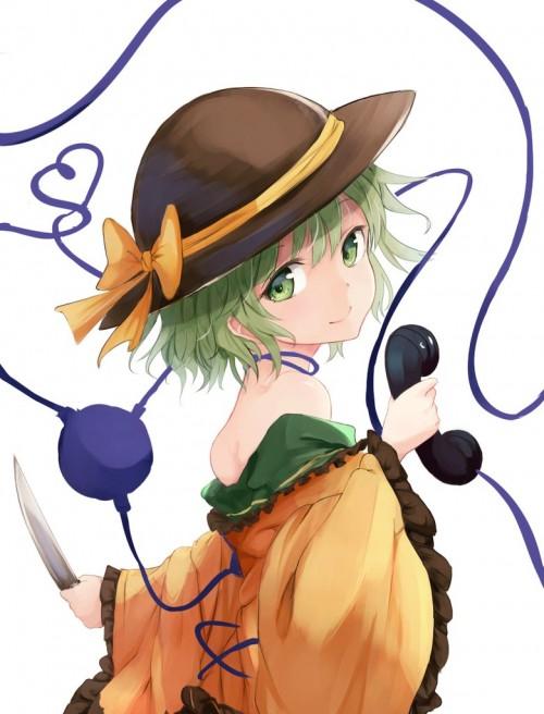 二次 エロ 萌え ゲーム 東方project 古明地こいし 緑髪 帽子 無意識を操る程度の能力 灰色の髪 グリコ 妹 二次エロ画像 komeijikoishi10020170503018