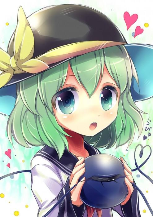 二次 エロ 萌え ゲーム 東方project 古明地こいし 緑髪 帽子 無意識を操る程度の能力 灰色の髪 グリコ 妹 二次エロ画像 komeijikoishi10020170503045