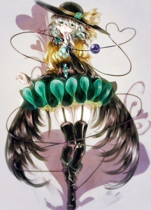 二次 エロ 萌え ゲーム 東方project 古明地こいし 緑髪 帽子 無意識を操る程度の能力 灰色の髪 グリコ 妹 二次エロ画像 komeijikoishi10020170503063