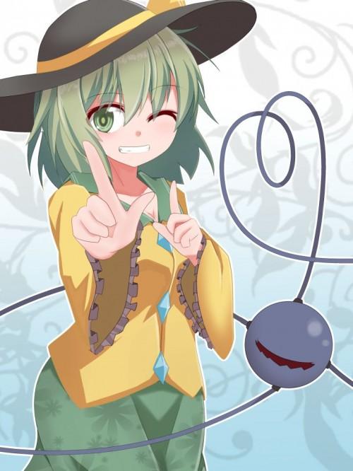二次 エロ 萌え ゲーム 東方project 古明地こいし 緑髪 帽子 無意識を操る程度の能力 灰色の髪 グリコ 妹 二次エロ画像 komeijikoishi10020170503066