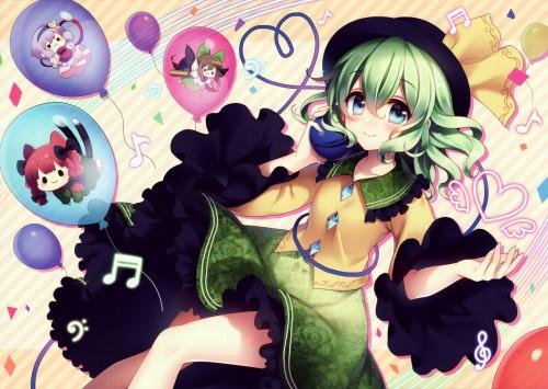 二次 エロ 萌え ゲーム 東方project 古明地こいし 緑髪 帽子 無意識を操る程度の能力 灰色の髪 グリコ 妹 二次エロ画像 komeijikoishi10020170503078