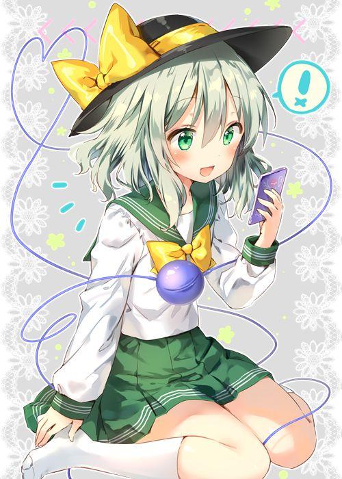 二次 エロ 萌え ゲーム 東方project 古明地こいし 緑髪 帽子 無意識を操る程度の能力 灰色の髪 グリコ 妹 二次エロ画像 komeijikoishi10020170503090