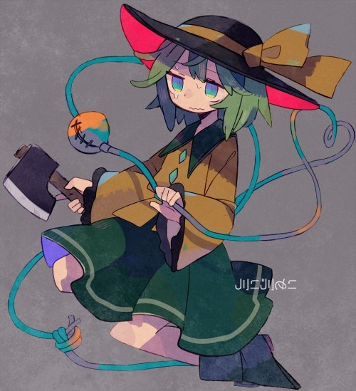 二次 エロ 萌え ゲーム 東方project 古明地こいし 緑髪 帽子 無意識を操る程度の能力 灰色の髪 グリコ 妹 二次エロ画像 komeijikoishi10020170503092