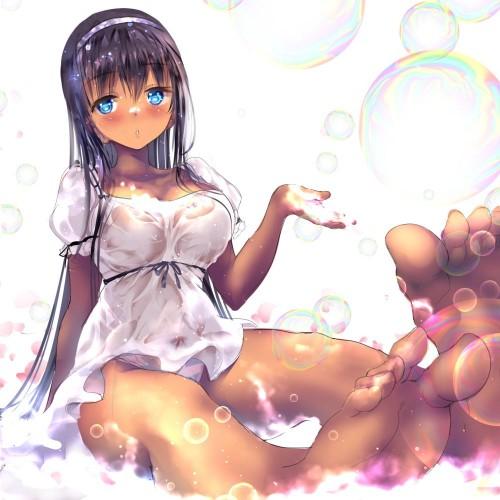 二次 非エロ 萌え フェチ ワンピース服 白ワンピ サンドレス スリーブレスドレス 透けてる サマードレス 二次微エロ画像 shiroonepiecehuku2017050933