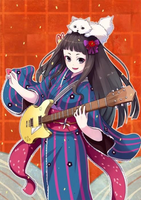 二次 非エロ 萌え 楽器 ヘッドフォン ギター 二次非エロ画像 guitar10020170609020