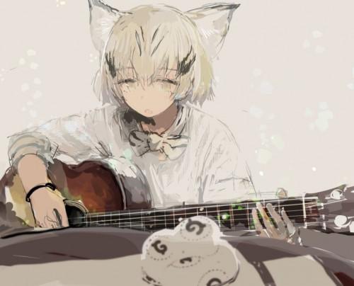 二次 非エロ 萌え 楽器 ヘッドフォン ギター 二次非エロ画像 guitar10020170609024