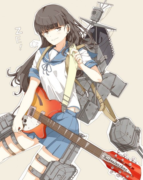 二次 非エロ 萌え 楽器 ヘッドフォン ギター 二次非エロ画像 guitar10020170609031