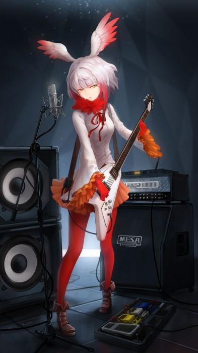 二次 非エロ 萌え 楽器 ヘッドフォン ギター 二次非エロ画像 guitar10020170609051