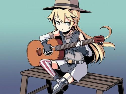 二次 非エロ 萌え 楽器 ヘッドフォン ギター 二次非エロ画像 guitar10020170609057