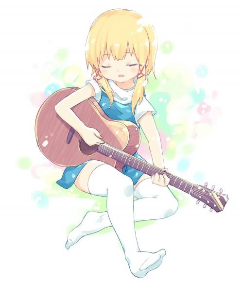 二次 非エロ 萌え 楽器 ヘッドフォン ギター 二次非エロ画像 guitar10020170609064