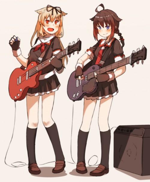 二次 非エロ 萌え 楽器 ヘッドフォン ギター 二次非エロ画像 guitar10020170609071