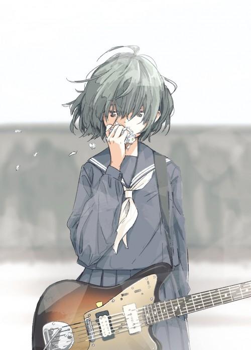 二次 非エロ 萌え 楽器 ヘッドフォン ギター 二次非エロ画像 guitar10020170609079