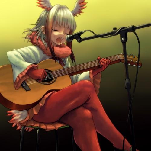 二次 非エロ 萌え 楽器 ヘッドフォン ギター 二次非エロ画像 guitar10020170609082