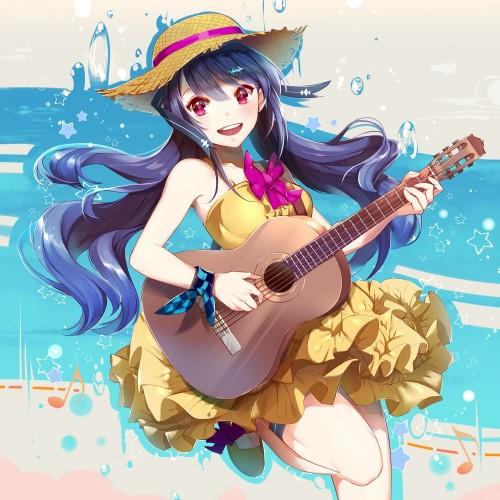 二次 非エロ 萌え 楽器 ヘッドフォン ギター 二次非エロ画像 guitar10020170609084