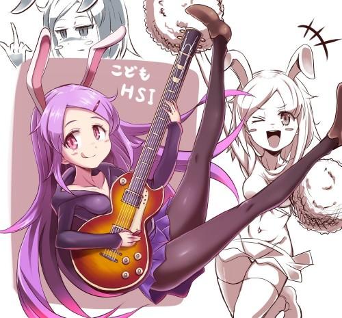 二次 非エロ 萌え 楽器 ヘッドフォン ギター 二次非エロ画像 guitar10020170609099