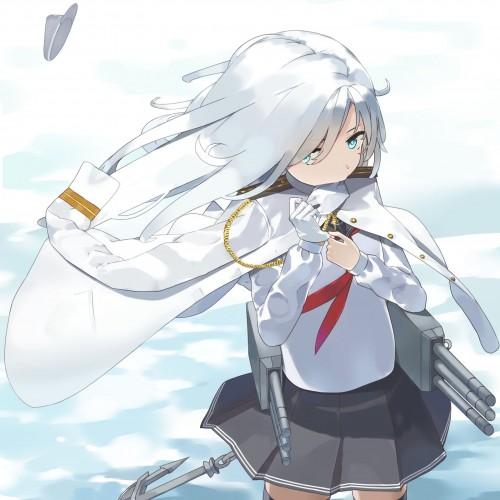 二次 エロ 萌え ゲーム 艦隊これくしょん 艦これ 暁型四姉妹 クール ロシア ヴェールヌイ 銀髪・白髪 青髪 帽子 キャップ セーラー服 駆逐艦 吹雪型 ハラショーマシン 二次エロ画像 hibikikancolle10020170619014